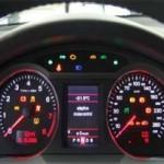 Проверка контрольных ламп на панели устройств автомобиля